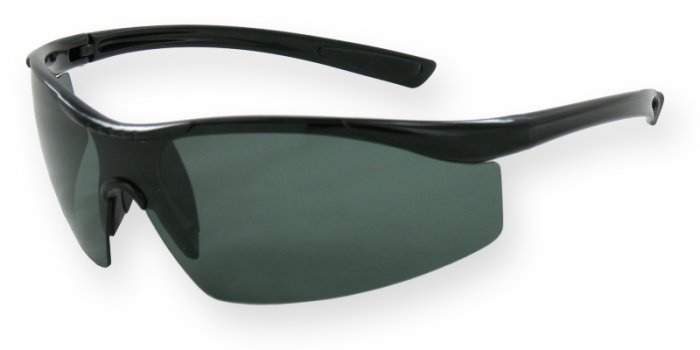 South Beach - Shiny Black w/Smoke TAC Polarized 1.0mm Lenses