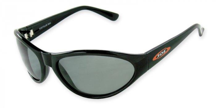 Maui - Black w/TAC Smoke Polarized 1.0MM Lenses