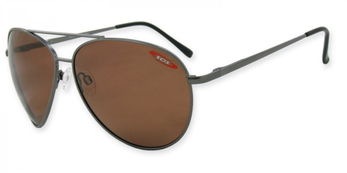 Skipper - Gunmetal w/TAC Brown Polarized 1.0MM Lenses
