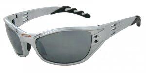 Hurricane - Silver w/PC Decenter Flash Mirror Smoke Lenses