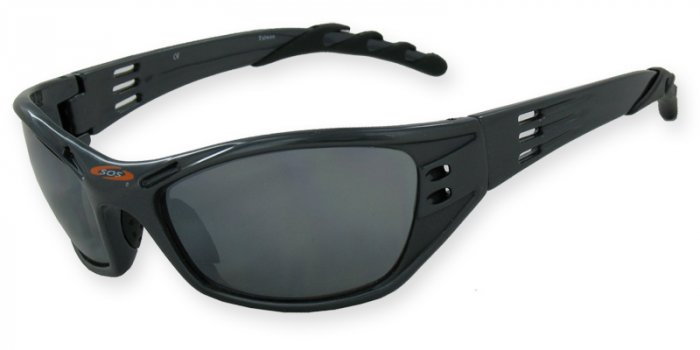 Hurricane -Gunmetal w/PC Decenter Flash Mirror Green/Gray Lenses