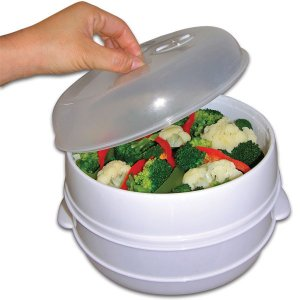 Case of 12 Two Tier Microwave Steamer