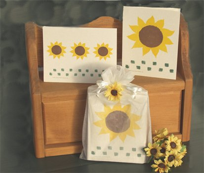 Sunflower Secret Note Card Gift Bag