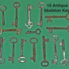 Lot of 15 Antique Skeleton Keys