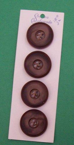 Card of vintage mocha color buttons MOC Schwanda