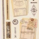 Antique look Paris travel stickers