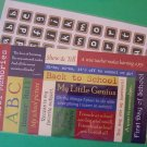 2 sets school theme stickers one alphabet set