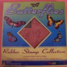 Mounted rubber stamps butterfly collection MIB Inkadinkadoo