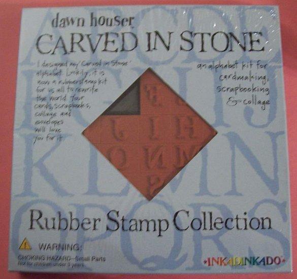 Carved in Stone mounted rubber stamp set MIP Inkadinkadoo
