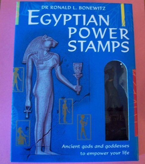 12 Egyptian theme rubber stamps with cat mount MIP with booklet