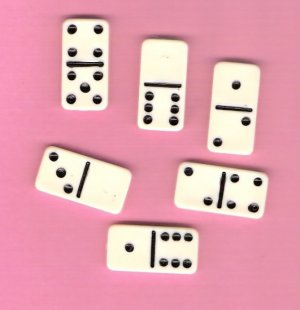 Miniature dominos for jewelry altered art scrapbooks