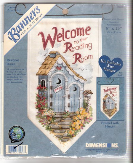 Counted cross stitch Outhouse banner pretty outhouse kit