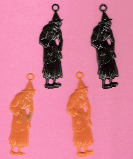 1950s plastic witch charms for altered art cards holidays crafting