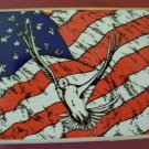 Dove on Flag of Peace mounted rubber stamp Stampabilities