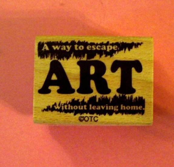 Vintage look ART definition mounted rubber stamp