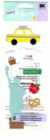 Jolees New York stickers for scrapbook greeting card altered art crafts