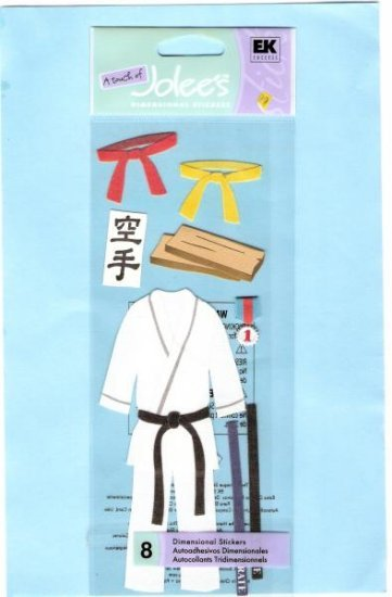 Jolees karate sticker embellishments for scrapbook greeting card altered art crafts
