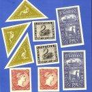 Lot of postage stamp theme scraps