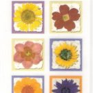 Realistic looking flower rub ons for cards and crafts