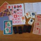 Vintage game pieces Rummikub Bingo Dominos cards Bridge