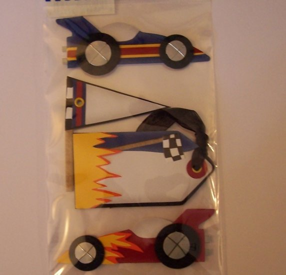 Paper Bliss Race Car embellishments for scrapbook greeting card altered art crafts