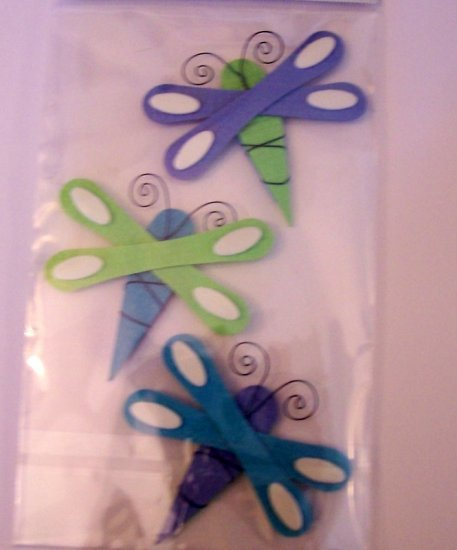 Paper Bliss Dragonfly embellishments for scrapbook altered art cards crafts supplies