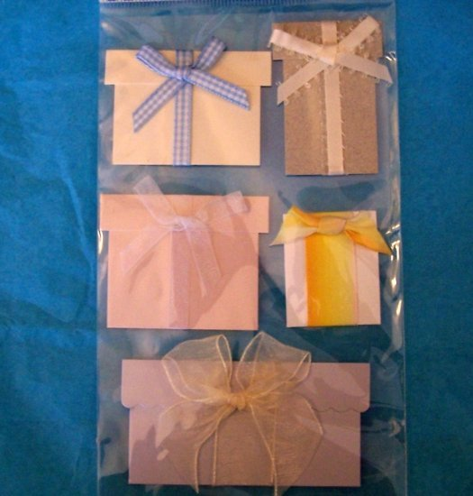 Paper Bliss gift packages embellishment for scrapbook greeting card altered art crafts