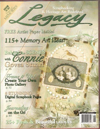 January 2007 Legacy Magazine photos digital scrapbook memory art and more retail 6.95