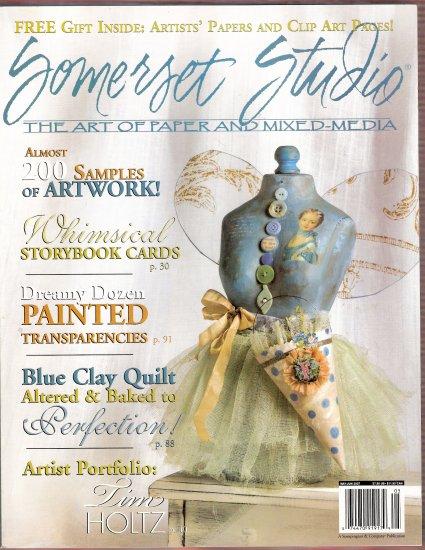 June 2007 Somerset Studio mixed media altered art scrapbooks transparencies