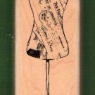Antique dressmaker mannekin mounted rubber stamp Inkadinkadoo