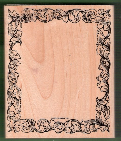 Large botannical design frame mounted rubber stamp Stampin Up