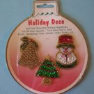Vintage sequin and bead Christmas appliques MIp