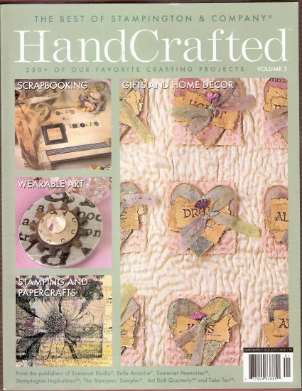 Handcrafted Magazine Vol. 3 Stampington and Company