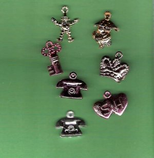 1950s vending machine plastic charms mixed styles