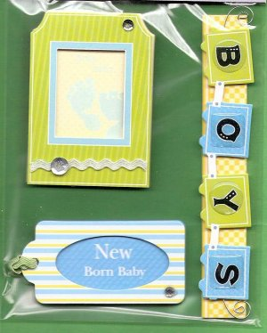 3 dimensional Baby Boy stickers MIP