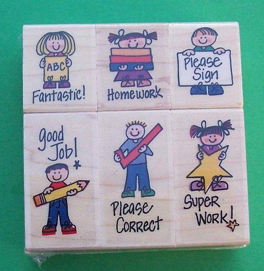 Rubber Stamp set for teachers Hero Arts MIP