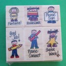 Rubber Stamp set for teachers Hero Arts MIP