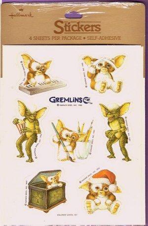Vintage Hallmark Gremlins movie sticker set with Gizmo mint in package