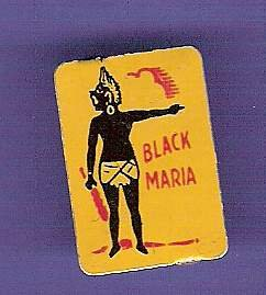 1920s tin Black Maria tobacco tag Black American advertising