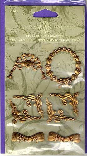 Empire style brass stampings for scrapbooks altered art cards Anna Griffin for All Night Media MOC