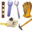 Handyman theme diecuts gloves tape measure level flashlight hammer