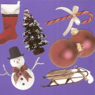 Christmas theme diecuts ornaments tree snowman sled stocking