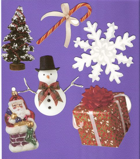 Christmas theme diecuts gifts tree ornament snowflake