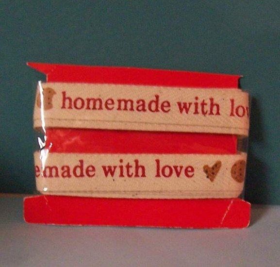 Homemade with Love cotton twill ribbon tape MIP 4 yards