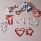 Metal Novelty clips and fasteners red white black