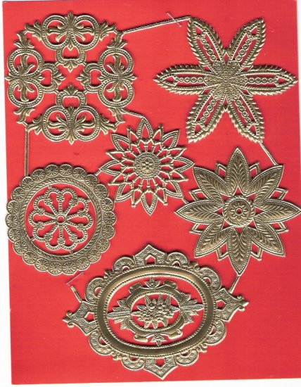 Lot vintage gold seals fancy designs