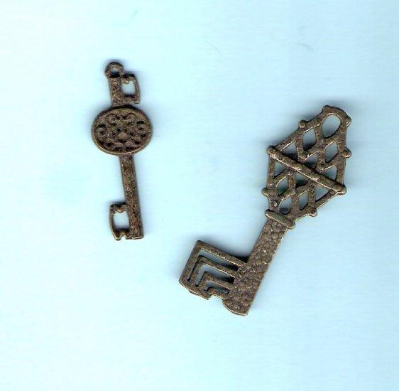 Decorative skeleton keys for embellishments