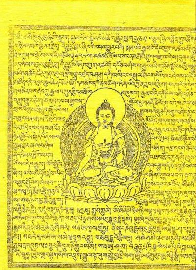Buddhist printing on fabric