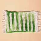 Handmade braided green white rug dollhouse miniature