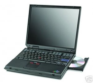 IBM THINKPAD 1133MHZ 512MB 30GB DVD WIRELESS WIN XP